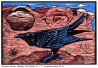 tapestry arch raven