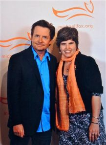 Me with Michael J. Fox before the awards dinner
