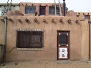 A house in the Sky City of Acoma Pueblo 17 November 2012, by Beyond My Ken