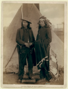 """""""Red Cloud and American Horse."""" The two most noted chiefs now living Grabill, John C. H., photographer"""