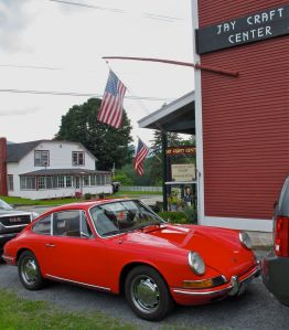 a cool 1967 Porsche at Jay Craft Center