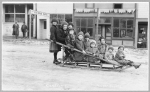 Children on a sleigh, Seward, Alaska, ca. 1920
