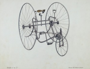 Harry G. Aberdeen American, active c. 1935 Bicycle, c. 1936 watercolor and graphite on paper