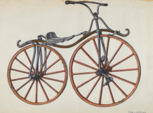 John Cutting American, active c. 1935 Bicycle, 1935/1942 watercolor, graphite, pen and ink, and gouache on paper