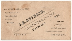 J.H.Guthrie Business Card
