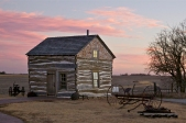 Palmer-Epard cabin at sunset