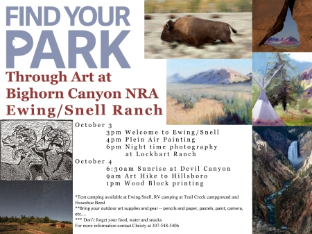 Find your park through art poster