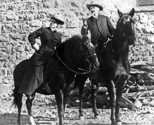 Lockhart with 'Buffalo' Bill Cody