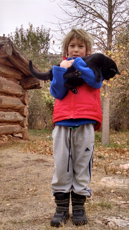 Gabe and Blackpaw, who was rescued from Hillsboro Ranch