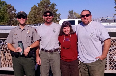 Amanda with some of the cool Bighorn staff