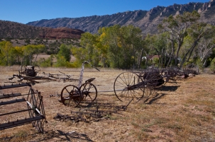 farm machinery at Ewing-Snell Ranch