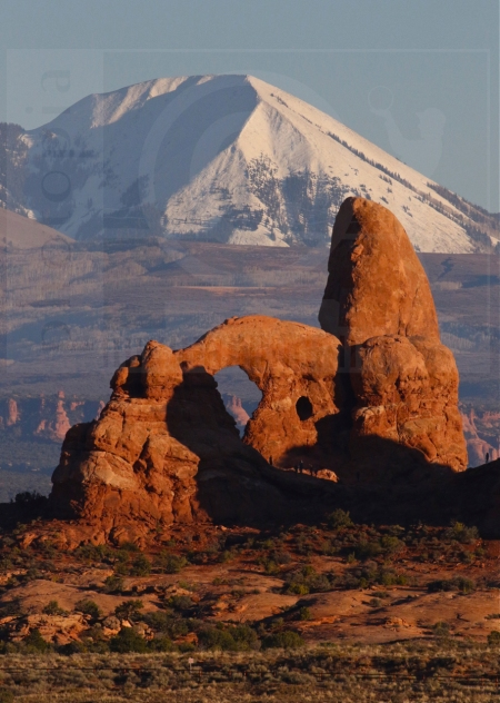 La Sal Mountains and Turret Arch