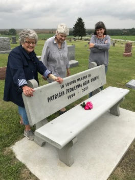 with Betty Hoppe-Stevens who was instrumental in getting the commemorative bench installed at Farnam Cemetery