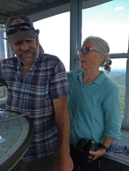 David & Nancy in the fire tower