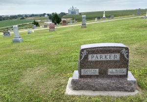 Great Aunt Jeannette & Great Uncle Burr Parker (his was another Parker family in Farnam)