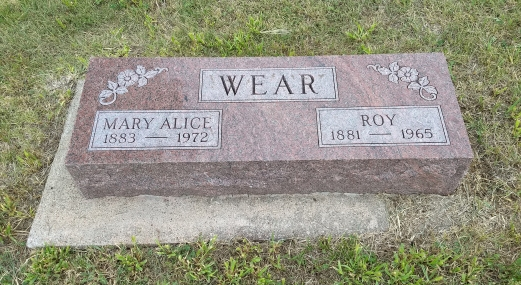 Great Grandparents Alice and Roy Wear