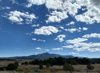 view of Fisher's Peak from the archery range... the clouds here are inspiring!